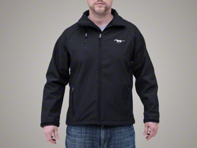 Ford Mustang Black Soft Shell Jacket (XL)