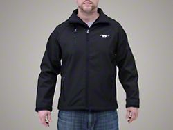 Ford Mustang Black Soft Shell Jacket (Large)