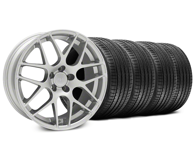 AMR Silver Wheel and Sumitomo Maximum Performance HTR Z5 Tire Kit; 18x9 (94-98 All)