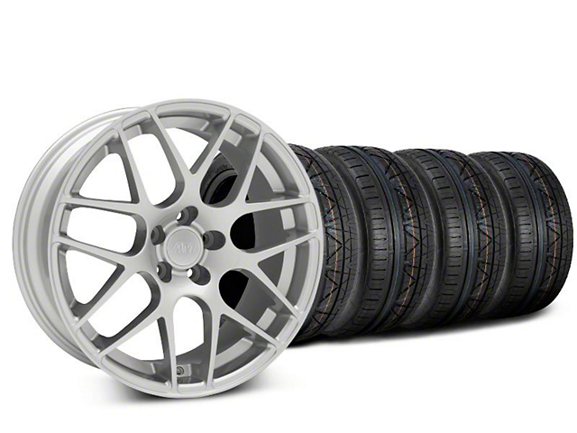 AMR Silver Wheel and NITTO INVO Tire Kit; 18x9 (05-14 All, Excluding 13-14 GT500)