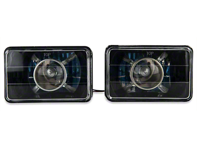 Axial Black Projector Headlight - Pair (79-86 All)