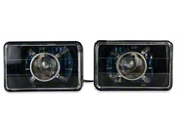 Axial Projector Headlights; Black (79-86 All)