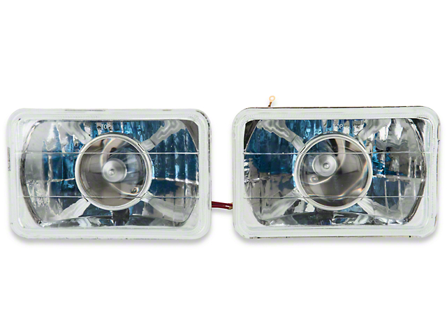 Axial Projector Headlights; Chrome (79-86 All)