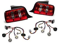 Raxiom Coyote Tail Lights and Sequential Tail Light Kit; Red (05-09 All)