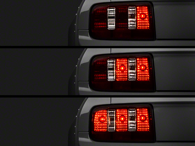Raxiom Coyote Tail Lights and Sequential Tail Light Kit; Smoked (05-09 All)