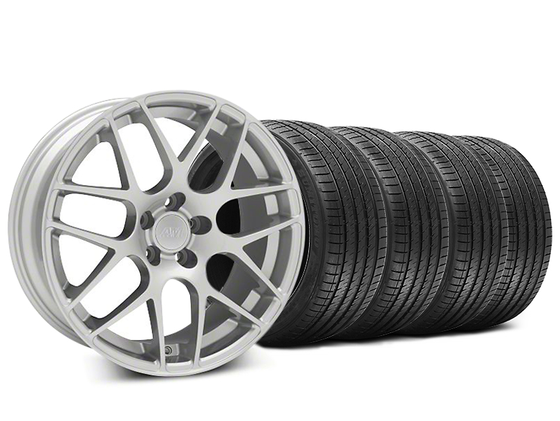AMR Silver Wheel and Sumitomo Maximum Performance HTR Z5 Tire Kit; 20x8.5 (05-14 All)