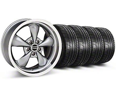 Bullitt Anthracite Wheel & Mickey Thompson Tire Kit - 17x9 (87-93 w/ 5 Lug Conversion)