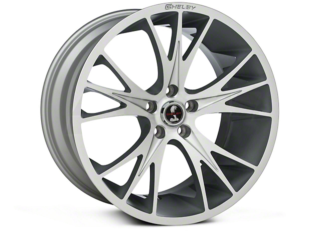 Shelby CS1 Hyper Silver Wheel; Rear Only; 20x11 (15-20 GT, EcoBoost, V6)