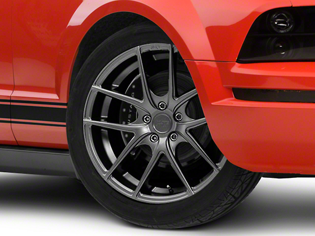 Niche Targa Matte Anthracite Wheel; Rear Only; 19x9.5 (05-09 All)