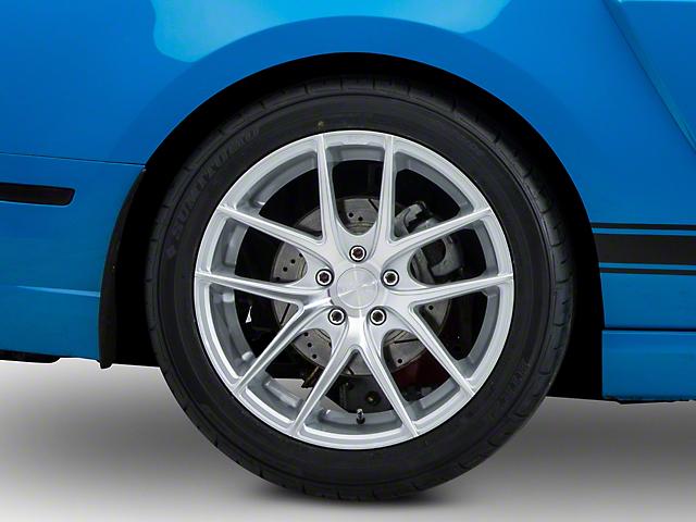 Niche Targa Matte Silver Wheel; Rear Only; 19x9.5 (10-14 All)