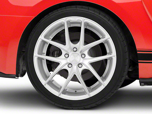 Niche Targa Matte Silver Wheel; Rear Only; 19x9.5 (15-20 GT, EcoBoost, V6)