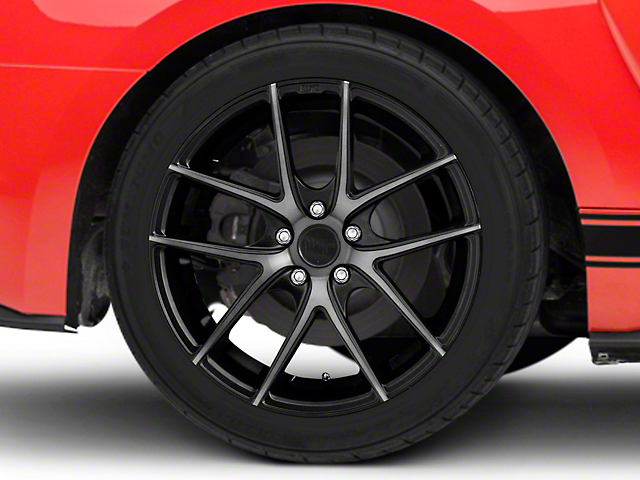 Niche Targa Matte Black Wheel; Rear Only; 19x9.5 (15-21 GT, EcoBoost, V6)