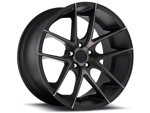 Niche Targa Black Machined with Dark Tint Wheel; Rear Only; 20x10 (15-21 GT, EcoBoost, V6)