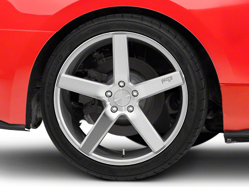 Niche Milan Silver Wheel - 20x10 - Rear Only (15-19 GT, EcoBoost, V6)