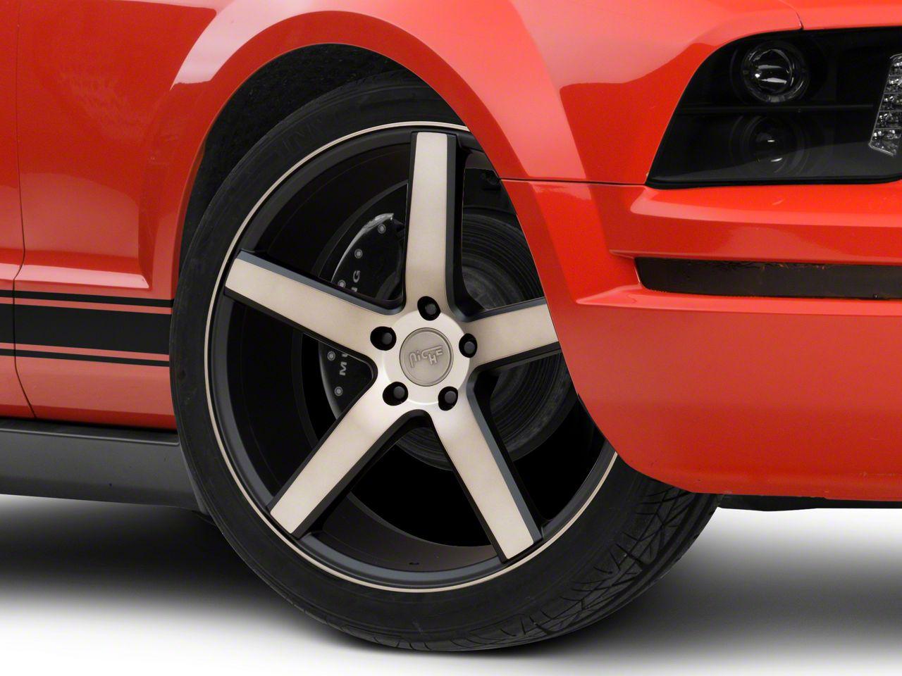 Niche Milan Matte Black Machined Wheel - 20x8.5 (05-14 All)