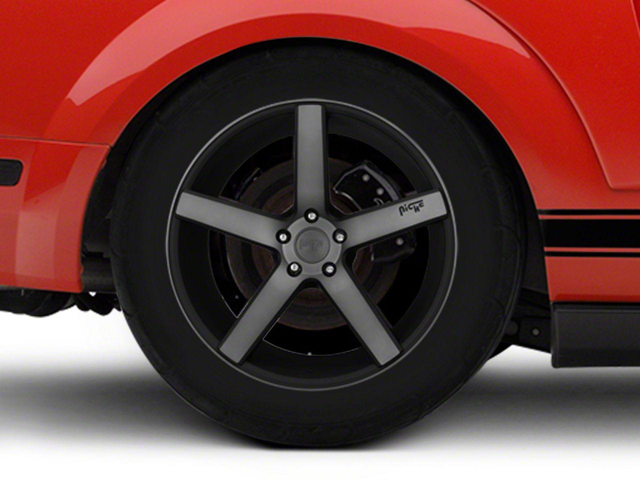 Niche Milan Matte Black Machined Wheel - 20x10 (05-14 All)