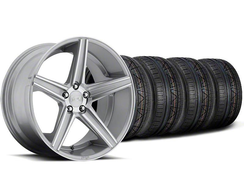 Niche Apex Machined Silver Wheel & NITTO INVO Tire Kit - 20x8.5 (05-14 All)