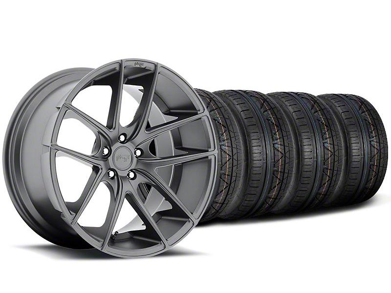 Niche Targa Matte Anthracite Wheel & NITTO INVO Tire Kit - 20x8.5 (05-14 All)