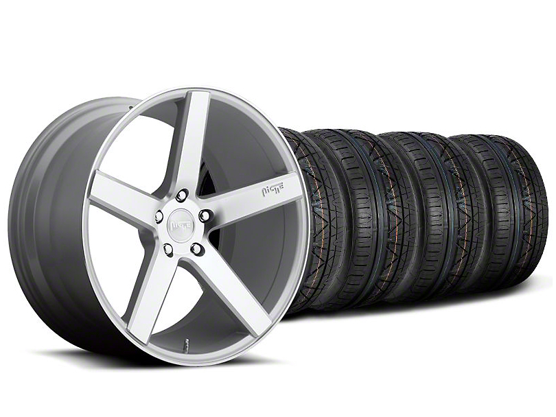 Niche Milan Silver Wheel and NITTO INVO Tire Kit; 20x8.5 (05-14 All)