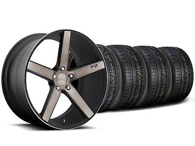 Niche Milan Matte Black Machined Wheel & NITTO INVO Tire Kit - 20x8.5 (05-14 All)