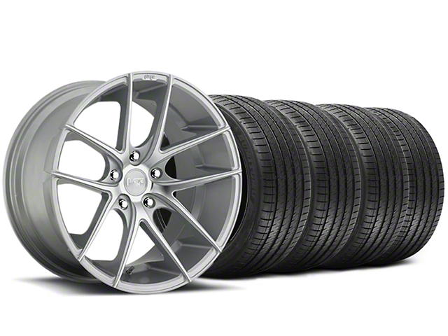 Niche Targa Matte Silver Wheel and Sumitomo Maximum Performance HTR Z5 Tire Kit; 20x8.5 (05-14 All)