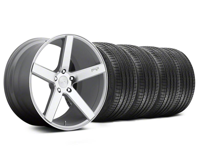 Niche Milan Silver Wheel and Sumitomo Maximum Performance HTR Z5 Tire Kit; 20x8.5 (05-14 All)