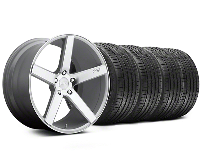 Niche Milan Silver Wheel and Sumitomo Maximum Performance HTR Z5 Tire Kit; 20x8.5 (05-14 All)
