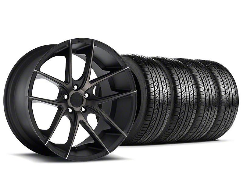 Niche Targa Black Wheel and Pirelli Tire Kit; 19x8.5 (05-14 All)
