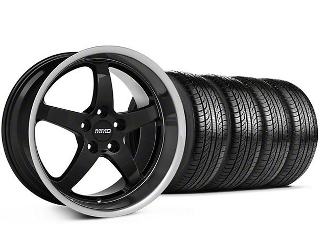 MMD Kage Black Wheel and Pirelli Tire Kit; 19x8.5 (05-14 GT, V6)