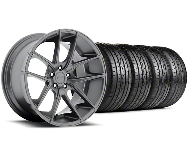 Niche Targa Matte Anthracite Wheel & Sumitomo Tire Kit; 19x8.5 (05-14 All)