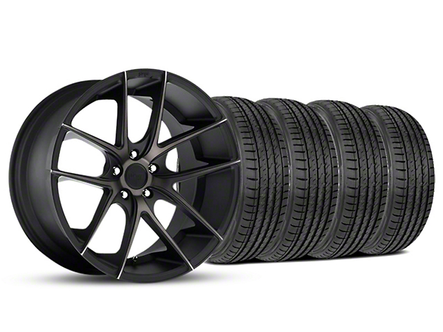Niche Targa Matte Black Wheel and Sumitomo Maximum Performance HTR Z5 Tire Kit; 19x8.5 (05-14 All)