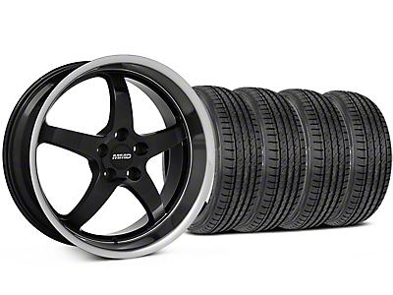 MMD Kage Black Wheel & Sumitomo Tire Kit - 19x8.5 (05-14 GT, V6)