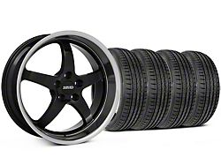 MMD Kage Black Wheel and Sumitomo Maximum Performance HTR Z5 Tire Kit; 19x8.5 (05-14 GT, V6)