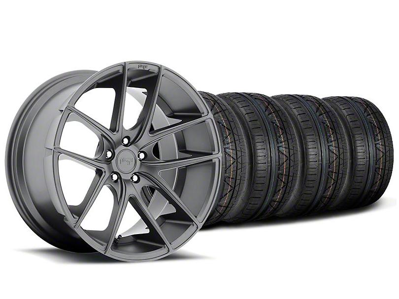 Niche Targa Matte Anthracite Wheel and NITTO INVO Tire Kit; 19x8.5 (05-14 All)