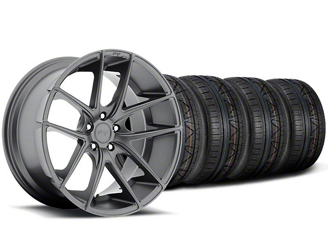 Niche Targa Matte Anthracite Wheel and NITTO INVO Tire Kit; 19x8.5 (05-14 All)