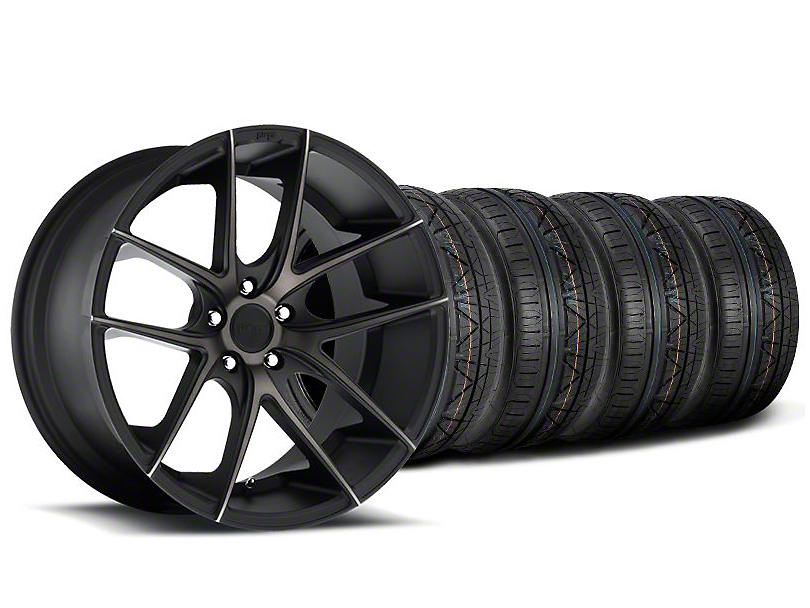 Niche Targa Black Wheel and NITTO INVO Tire Kit; 19x8.5 (05-14 All)