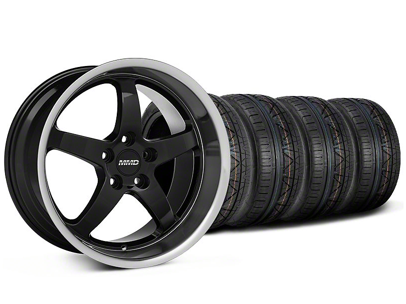 MMD Kage Black Wheel & NITTO INVO Tire Kit - 19x8.5 (05-14 GT, V6)