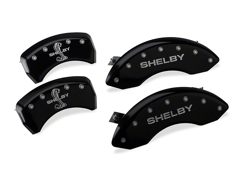 MGP Black Caliper Covers w/ Shelby Snake Logo - Front & Rear (05-09 GT, V6)