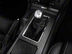 Alterum Premium Black Leather Shift Boot; White Stitching (10-14 All)