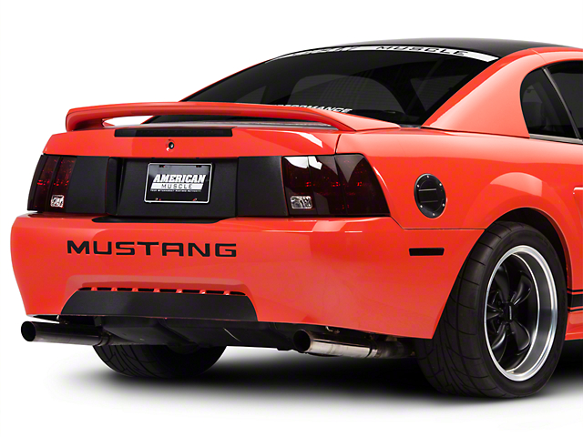 SEC10 Lower Rear Valance Accent; Brushed Black (99-04 GT, V6, Mach 1; 1999 Cobra)
