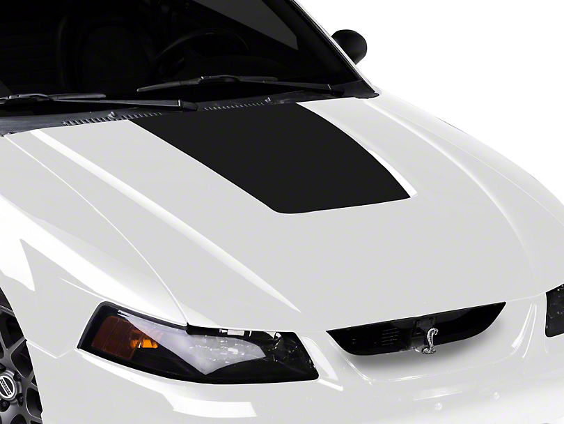 American Muscle Graphics Matte Black Hood Decal (99-01 Cobra; 03-04 V6)