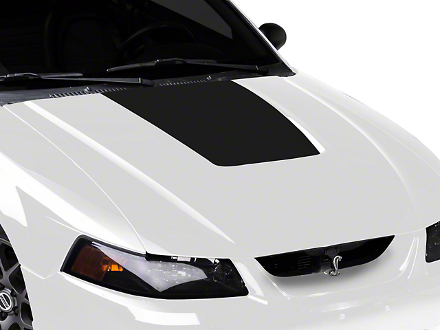 SEC10 Hood Decal; Matte Black (99-01 Cobra; 03-04 V6)