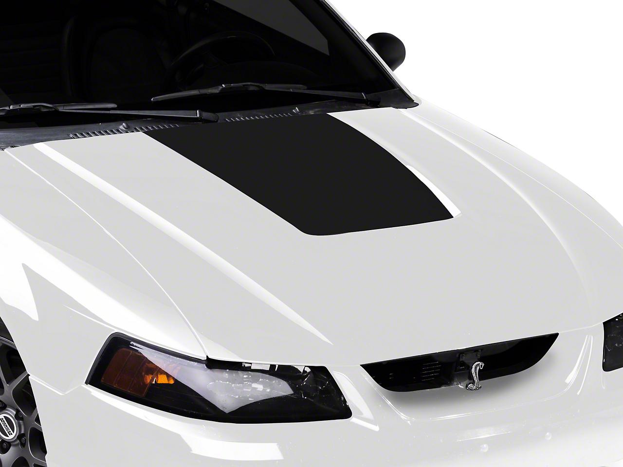 American Muscle Graphics Matte Black Hood Decal (99-01 Cobra; 03-04 V6)