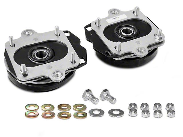 J&M Independently Adjustable Caster Camber Plates; Black (11-14 All, Excluding GT500)