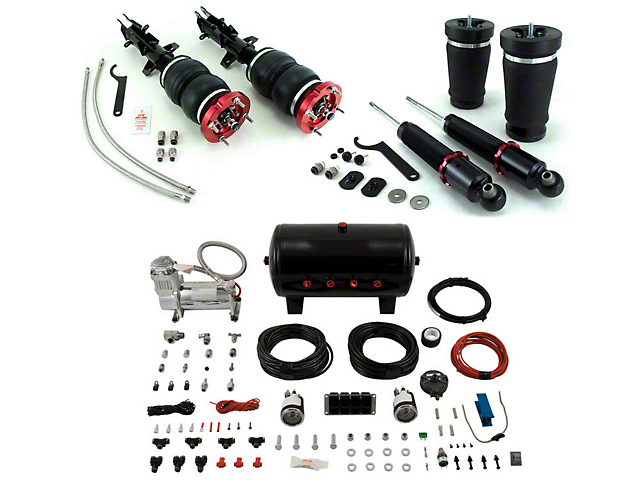 Air Lift Performance 4-Way Manual Complete Air Suspension Kit; 1/4-Inch Lines (05-14 All)