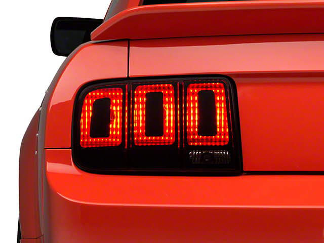 SEC10 Tail Light Conversion Decal Kit; Matte Black (05-09 All)