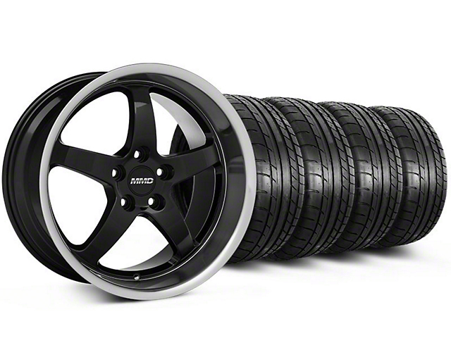 MMD Kage Black Wheel and Mickey Thompson Tire Kit; 19x8.5 (05-14 GT, V6)