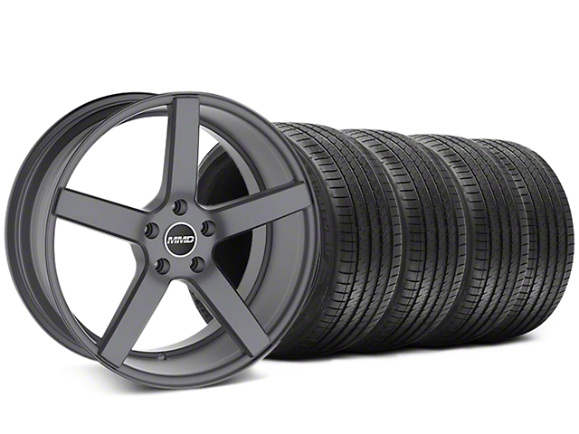 MMD 551C Charcoal Wheel and Sumitomo Maximum Performance HTR Z5 Tire Kit; 20x8.5 (05-14 All)