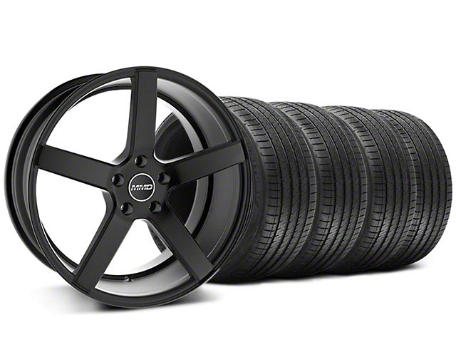 MMD 551C Black Wheel and Sumitomo Maximum Performance HTR Z5 Tire Kit; 20x8.5 (05-14 All)