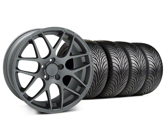 Staggered AMR Charcoal Wheel & Sumitomo Tire Kit - 18x9/10 (94-98)